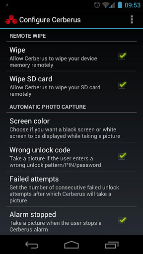 Cerberus for Android helps to wipe out your phone.