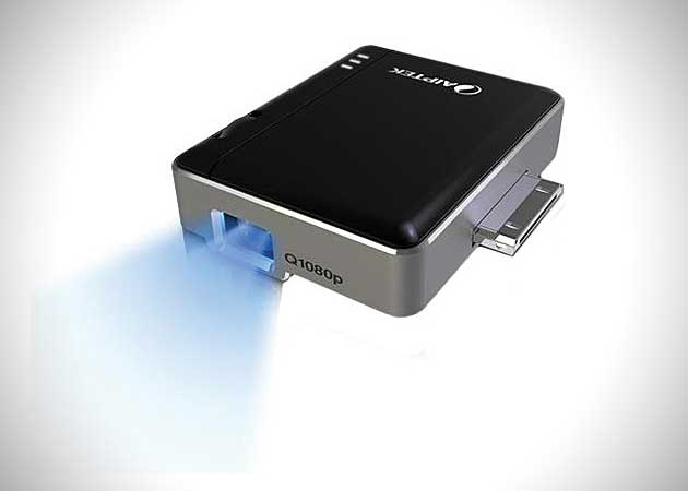 iPhone-iPad-Mobile-Cinema-i20-DLP-Pico-Projector-by-Aiptek-Wall-In-action